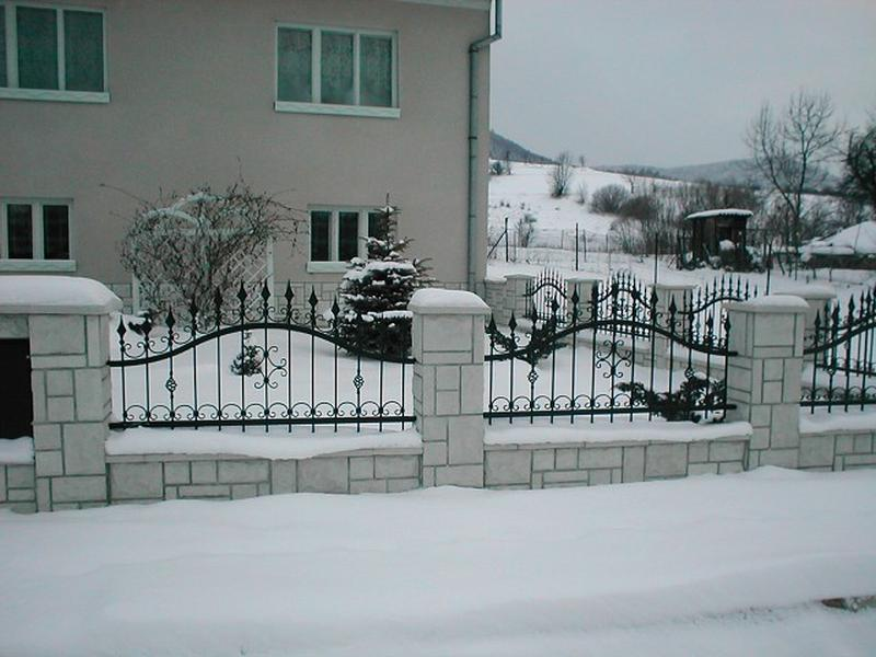 Superior Vesuv Garden Fence  Spikes, Straight Bars, Green Color   Forged Fences